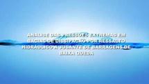 Análise das pressões extremas em bacias de dissipação por ressalto hidráulico com baixo Número de Froude