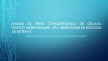 Análise de perfil transcritômico de células-tronco mesenquimais de tecido adiposo: uma abordagem de Biologia de Sistema
