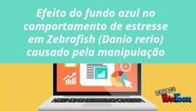 Efeito do fundo azul no comportamento de estresse em Zebrafish (Danio rerio) causado pela manipulação