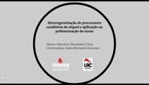 Heterogeneização de Precursores Catalíticos de Níquel e Aplicação na Polimerização do Eteno
