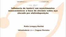Influência de taninos em revestimentos nanocerâmicos à base de zircônio sobre aço zincado por eletrodeposição