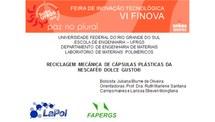 Reciclagem mecânica de cápsulas plásticas da NESCAFÉ® DOLCE GUSTO®