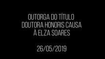 Transmissão ao vivo - Elza Soares - Honoris Causa