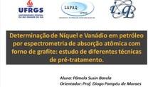Determinação de Níquel e Vanádio em petróleo por espectrometria de absorção atômica com forno de grafite: estudo de diferentes técnicas de pré-tratamento.