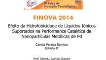Efeito da Hidrofobicidade de Líquidos Iônicos Suportados na Performance Catalítica de Nanopartículas Metálicas de Pd