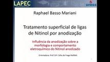 Influência da anodização sobre a morfologia e comportamento eletroquímico do Nitinol anodizado