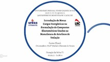 Introdução de Novas Cargas Inorgânicas na Formulação de Compostos Elastoméricos Usados na Manufatura de Artefatos de Vedação