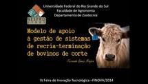 Modelo de apoio à gestão de sistemas de recria-terminação de bovinos de corte