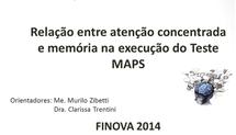 Relação entre atenção concentrada e memória na execução do Teste MAPS