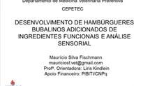 DESENVOLVIMENTO DE HAMBÚRGUERES BUBALINOS ADICIONADOS DE INGREDIENTES FUNCIONAIS E ANÁLISE SENSORIAL