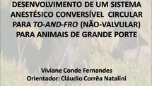 Desenvolvimento de sistema anestésico conversível circular para não valvular para animais de grande porte