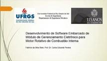Desenvolvimento de Software Embarcado de Módulo de Gerenciamento Eletrônico para Motor Rotativo de Combustão Interna