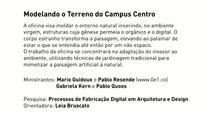 PROCESSOS EM FABRICAÇÃO DIGITAL EM ARQUITETURA E DESIGN