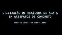 Utilização de resíduos de ágata em artefatos de concreto